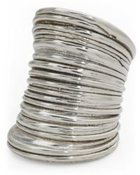 Tj Maxx - Made In Israel Sterling Silver Striped Cigar Band Ring - Lyst