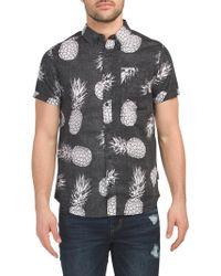 0f37015f9 Tj Maxx - Short Sleeve Exploded Pineapple Print Shirt - Lyst