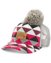 Tj Maxx - Geometric Trucker Hat With Removable Pom - Lyst