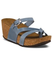 Tj Maxx | Made In Italy Leather Wedge Sandals | Lyst