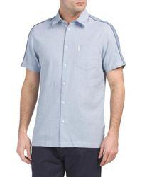 Tj Maxx - Short Sleeve Blocked Dobby Shirt - Lyst