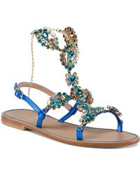 Tj Maxx - Made In Italy Handmade Jewel Leather Sandals - Lyst