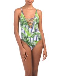 19d2a01bd9b5d Tj Maxx Niptuck One-piece Maldive Swimsuit in Blue - Lyst