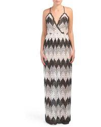 fe8b221357b Lyst - Tj Maxx Made In Usa Wrap Front Tie Back Maxi Dress in Black