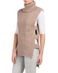 Tj Maxx | Sleeveless Hi-lo Hem Sweater | Lyst