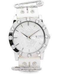 Tj Maxx - Women's Miami Swarovski Crystal Bezel Leather Strap Watch - Lyst