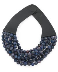 Tj Maxx - Handmade In Italy Leather Bella Beaded Multi Row Necklace - Lyst