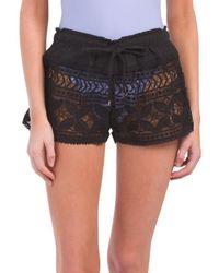 Tj Maxx   Crochet Drawstring Cover-up Shorts   Lyst