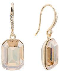 6a0782107 Lyst - Tj Maxx Sterling Silver Swarovski Crystal Drop Earrings in ...