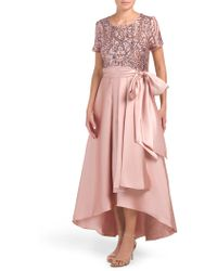 Tj Maxx - Sequin Embellished Hi-lo Party Dress - Lyst