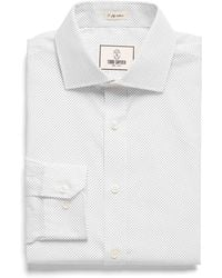 Todd Snyder - Spread Collar Dress Shirt In White Pindot - Lyst