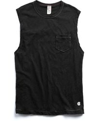 Todd Snyder - Muscle Tee In Black - Lyst