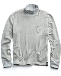Todd Snyder - Rice Thermal Turtleneck In Grey Mix - Lyst