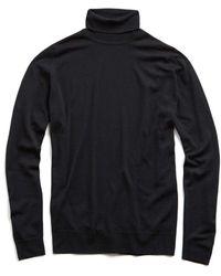 John Smedley | John Smedley Easy Fit Turtleneck In Black | Lyst