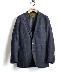 Todd Snyder - White Label Italian Heather Tweed Suit Jacket In Navy - Lyst