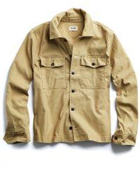 Todd Snyder - Cpo Overshirt Jacket In Khaki - Lyst