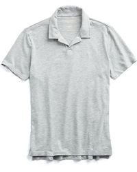 Todd Snyder - Made In L.a. Montauk Polo In Grey Heather - Lyst