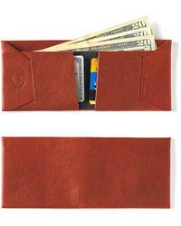 Maxx + Unicorn - Leather Wallet In Mahogany - Lyst