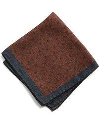 Todd Snyder - Italian Wool Burnt Orange Pocket Square - Lyst