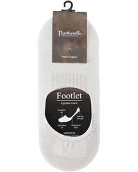Pantherella - No-show Socks In White Egyptian Cotton - Lyst
