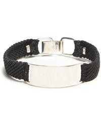 Scosha - Belt Id In Silver And Black - Lyst