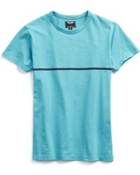 Todd Snyder - Aqua And Navy Stripe Tee - Lyst