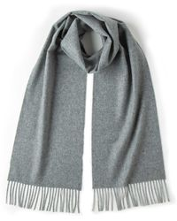 Johnstons - Solid Cashmere Scarf In Light Grey - Lyst