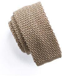 Todd Snyder - Classic Silk Knit Tie In Khaki - Lyst