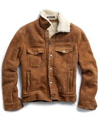 Todd Snyder - Dylan Shearling Jacket In Nutmeg - Lyst
