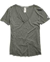 Todd Snyder - Women's V-neck Tee In Olive - Lyst