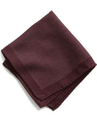 Todd Snyder - Italian Wool Burgundy Pocket Square - Lyst