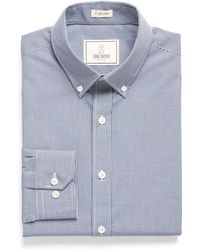 Todd Snyder - Button-down Collar Dress Shirt In Blue Gingham - Lyst
