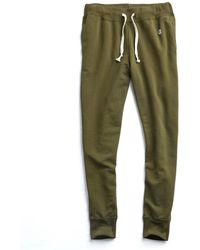Todd Snyder - Slim Jogger Sweatpant In Military Olive - Lyst