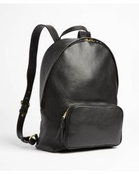 Lotuff Leather - Black Leather Backpack - Lyst
