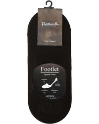 Pantherella   No-show Socks In Black Egyptian Cotton   Lyst