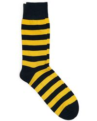 Corgi - Queen's Own Navy And Yellow Stripe Sock - Lyst