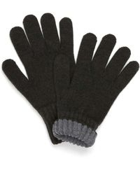 Drake's - Drakes Olive Solid Wool Tipped Gloves - Lyst