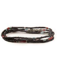 M. Cohen - Stacked Mini Black Bead Necklace/wrap Bracelet - Lyst