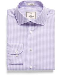 Todd Snyder - Spread Collar Dress Shirt In Lavender Plaid - Lyst