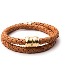 Miansai - Brass Leather Casing Bracelet - Lyst