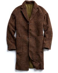 Todd Snyder - Italian Wool Boucle Glen Plaid Topcoat In Brown - Lyst