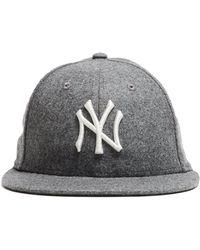 6add0074e1a NEW ERA HATS - Exclusive Ny Yankees Hat In Italian Barberis Grey Wool  Flannel - Lyst