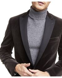 Todd Snyder - Made In The Usa Unconstructed Velvet Sport Coat In Charcoal - Lyst