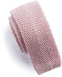 Todd Snyder - Classic Silk Knit Tie In Pink - Lyst