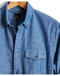 Todd Snyder - Japanese Indigo Chambray Shirt - Lyst