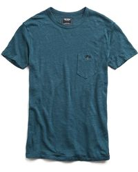 Todd Snyder - Linen Jersey Classic Button Pocket T-shirt In Cape Verde - Lyst