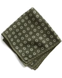 Todd Snyder - Italian Wool Large Dot Green Pocket Square - Lyst