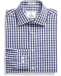 Todd Snyder - Dress Shirt In Navy Bold Gingham - Lyst