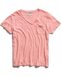 Todd Snyder - Pink Pocket V-neck T-shirt - Lyst