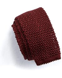 Todd Snyder - Classic Knit Silk Tie In Maroon - Lyst